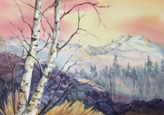 Betsy Bear_Birch View_watercolor