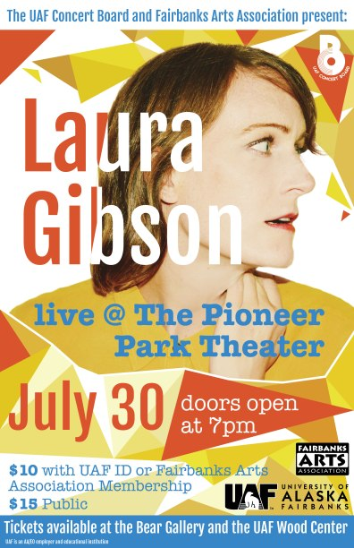 FAA partnered with UAF Concert Board for a concert with Portland musician, Laura Gibson