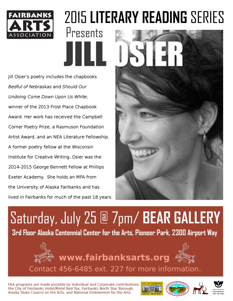 Jill Osier Literary Reading Information