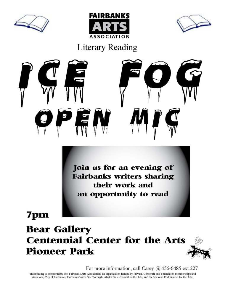 ice fog open mic flyer