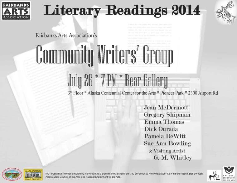 CWG Literary Reading Flier