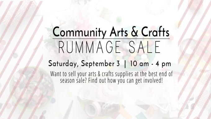 Craft Rummage Sale Featured