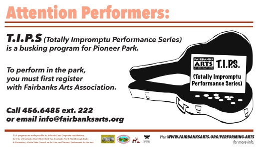 FAA's busking program in Pioneer Park.