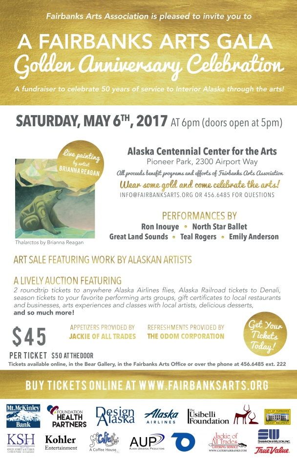 Fairbanks Arts 11x17 GALA Poster