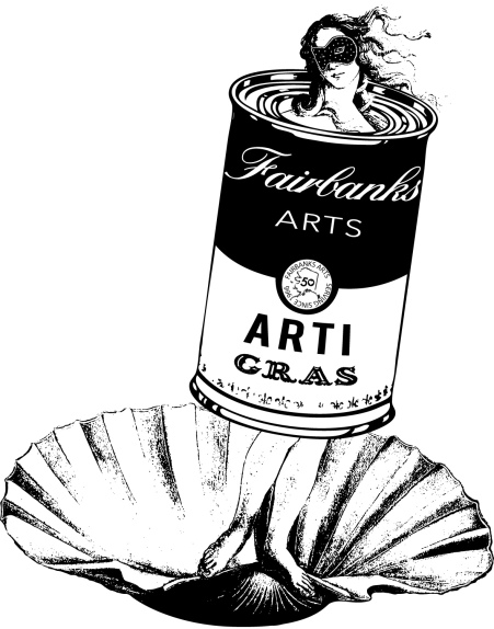 2017 Fairbanks Arts Arti Gras Sticker