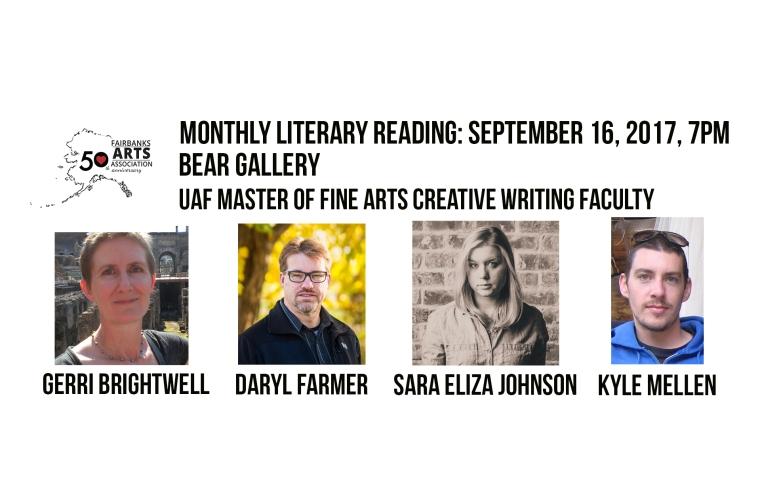 Sept 2017 literary reading homepage slide_UAF MFA faculty