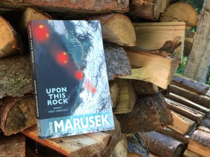 Upon this Rock_book on woodpile_David Marusek