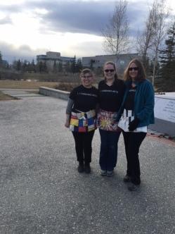 Fairbanks Arts staff representing at the ATIA Charity Walk