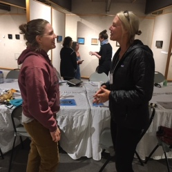 Artists Sheryl Reily and Sara Hensel at the Creative Capital Strategic Planning Workshop in May