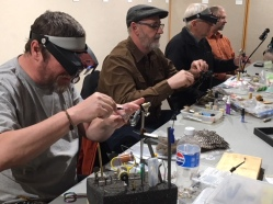 Fly tying workshops happened throughout the month of May during the Feathers and Fingertips' exhibitions