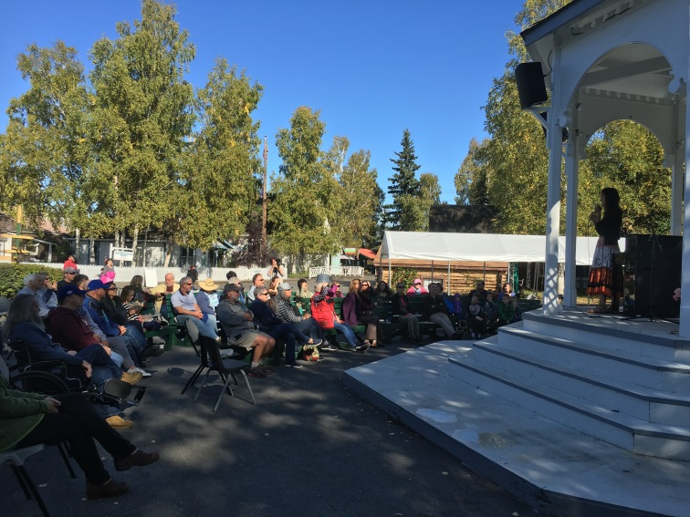 Miki Sawada performed an outdoor concert at Pioneer Park's gazebo as part of her Gather Hear Alaska tour.