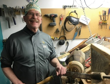 John at lathe
