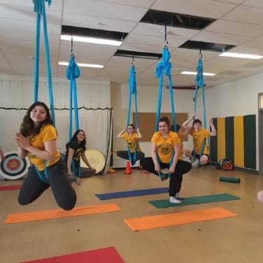 Teal Rogers' Aerial Yoga Residency