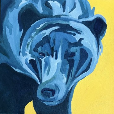 Iris Sutton, Blue Bear Portrait