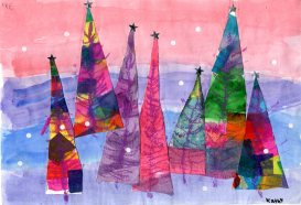 Starry Trees by Kathy Eanes, Gr. 3